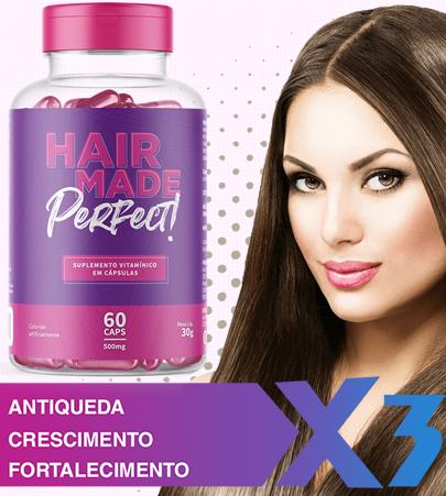 Seu problema com crescimento capilar chegou ao fim, dê aos seus cabelos o que eles realmente precisam, força, brilho, maciez e muito mais volume. Hair Made, o melhor tratamento natural que age de dentro para fora.